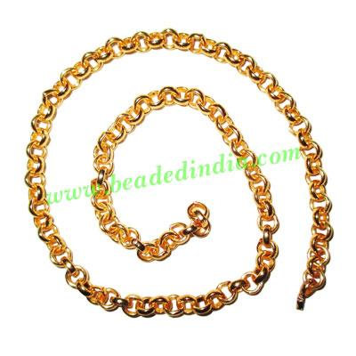 Gold Plated Metal Chain, size: 1.5x5mm, approx 19.5 meters i - Gold Plated Metal Chain, size: 1.5x5mm, approx 19.5 meters in a Kg.