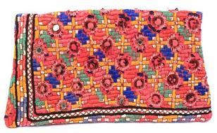 Indian handmade banjara leather coin purse -