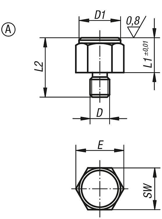 Pied fileté - Appuis et pieds de position