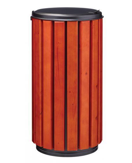 Corbeille Bois Zéno Protec 80 Litres À Poser Ou À Fixer - Corbeilles