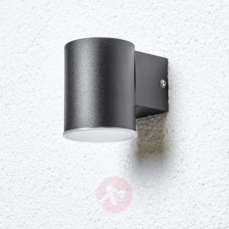 Sleek Morena LED outdoor wall lamp in black - outdoor-led-lights