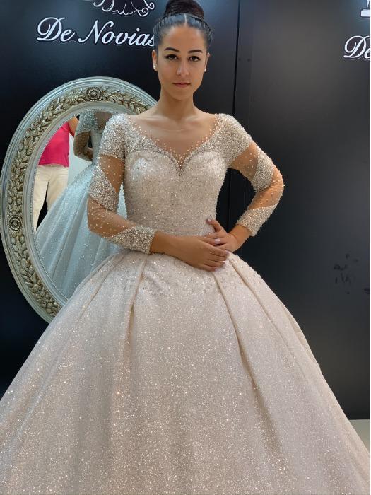 CLARA - Kristal Taşlı Prenses Gelinlik Modeli