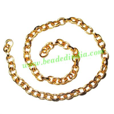 Gold Plated Metal Chain, size: 1.5x6mm, approx 20.6 meters i - Gold Plated Metal Chain, size: 1.5x6mm, approx 20.6 meters in a Kg.