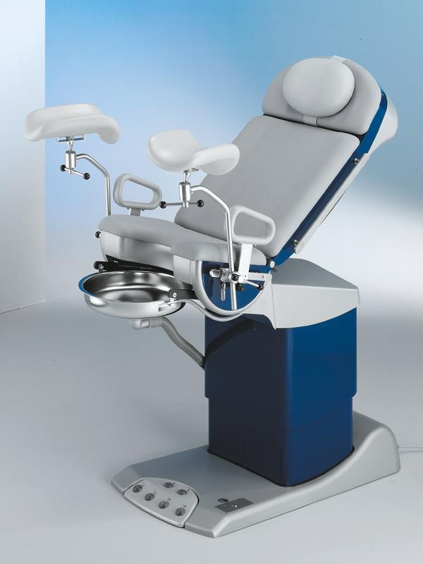 medi-matic® 115 Examination and treatment chair for urology - with stainless steel gyro flushing basin