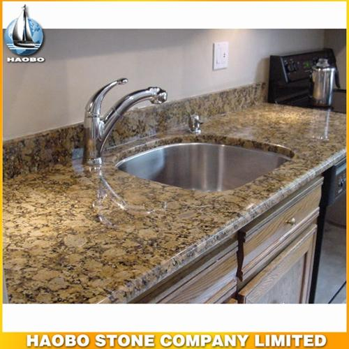 Brazilian Giallo Fiorito Granite Countertop For Kitchen