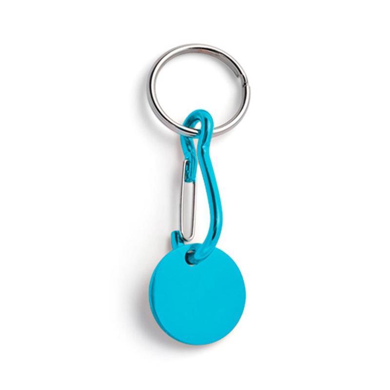 Porte-clés jeton aluminium - Marquage gravure laser 1 face - Porte-clés métal