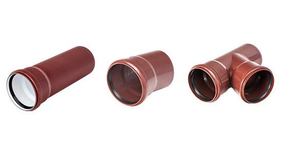 Sound-insulating MASTER 3 multi-layer drainage pipe system