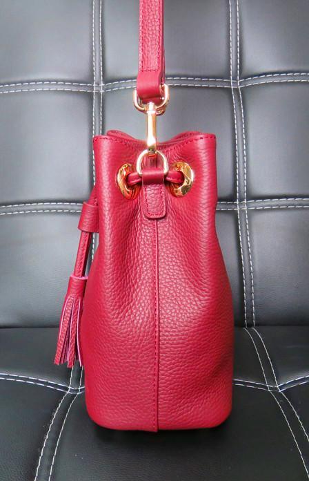 Drawstring Handbag,Bucket Bag,Drawstring Crossbody - Burgundy leather bag,natural leather bags,custom leather purse