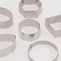 Small Tart Rings & Cutters - Cake-Flan-Tart Moulds