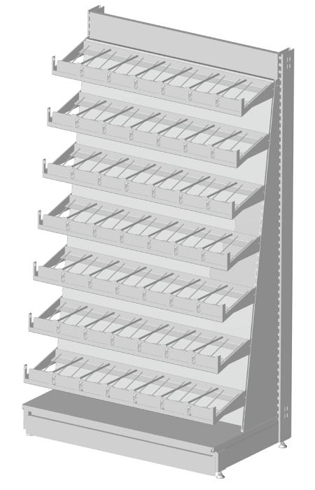 Modular shop rack systems & instore interior shelving design - Reading and multimedia