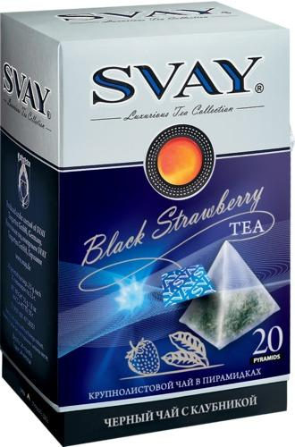 Black ceylon long leaf tea  - Tea SVAY Black Strawberry