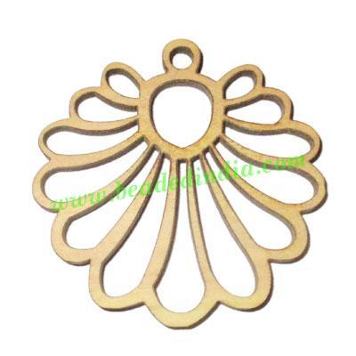 Handmade wooden pendants, size : 38x44x3mm - Handmade wooden pendants, size : 38x44x3mm