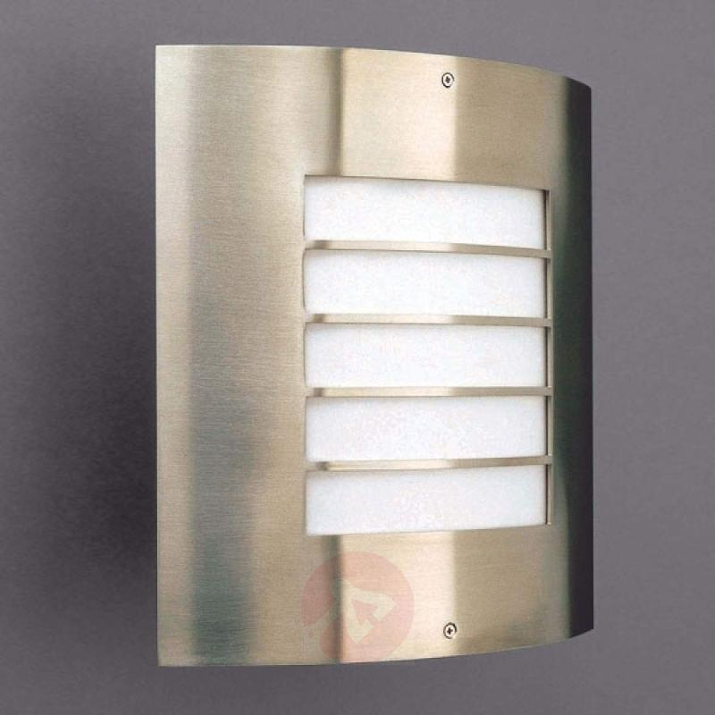 Nice outdoor wall lamp OSLO stainless steel - stainless-steel-outdoor-wall-lights
