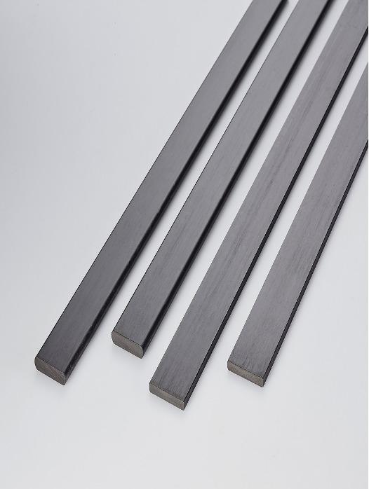 Profilo pieno rettangolare carbonio - Profilo pieno rettangolare carbonio 25 x 5 mm