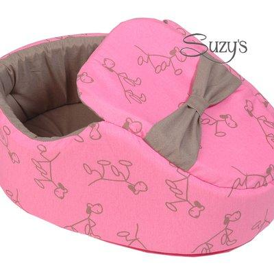 Shoe bed pink/taupe for Pets