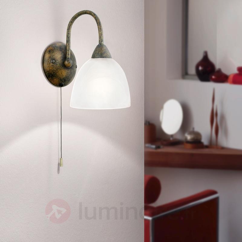Applique décorative Dionis rouille - Appliques rustiques