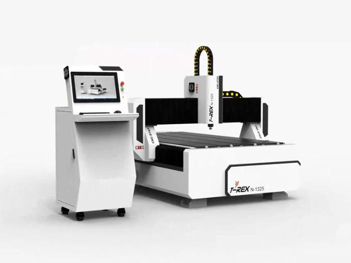 CNC Mill T-Rex N-1325 milling engraving - Travel paths 2500 x 1300 mm with bellows and closed energy chains