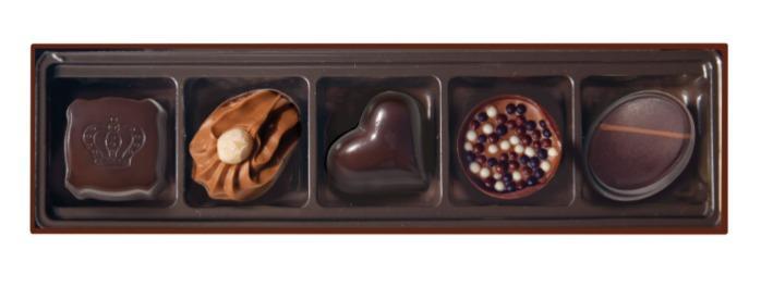EMOTI Dark Chocolates, BLUE-GOLD 65g. SKU: 015354X -