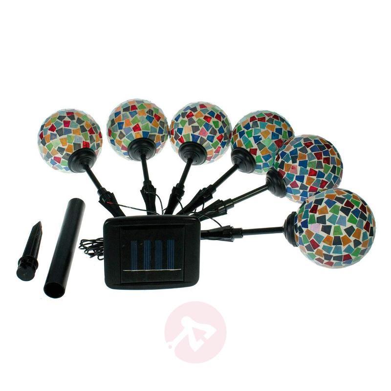 Kira attractive LED solar light, set of 6 - Decorative Solar Lights