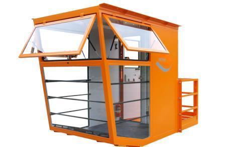 Operator cabin for portal crane