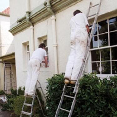Peinture murale extérieure - Protèg'façade 10 litres Rouleau de 23 cm avec Bac à Peinture
