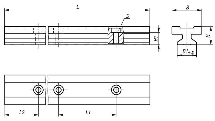 Rail de guidage DryLin® T - Guidages en plastique