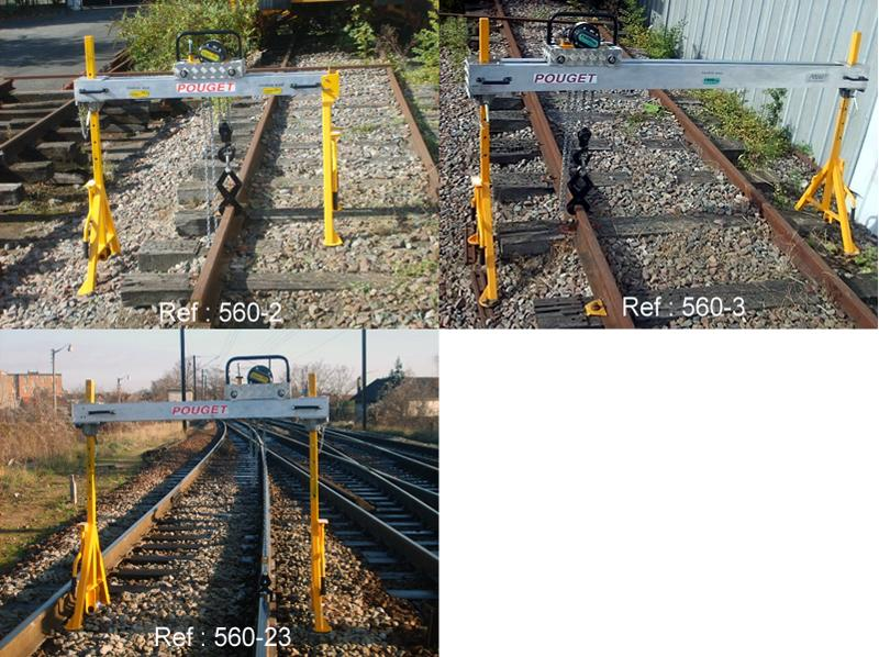 Track Lining and Leveling Equipment - Lightweight Gantry Cranes for renewal of rails