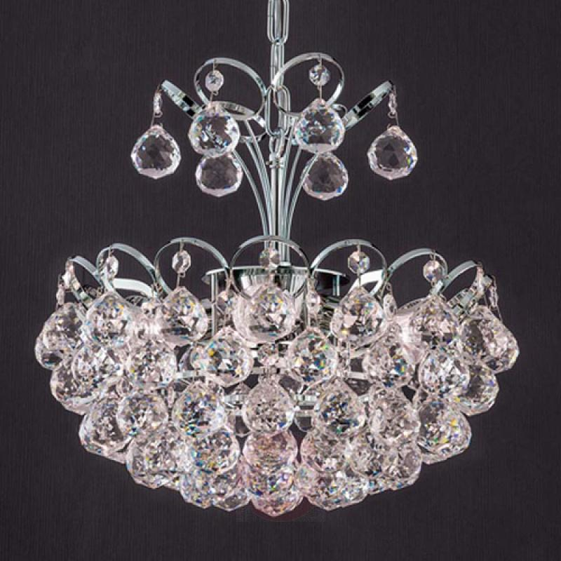 Classic crystal hanging light Auguste, 40 cm - indoor-lighting