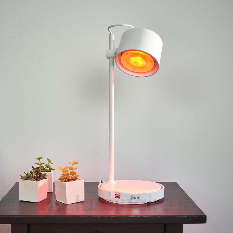 Lampe à poser LED IDual Jasmine, blanc brillant - null