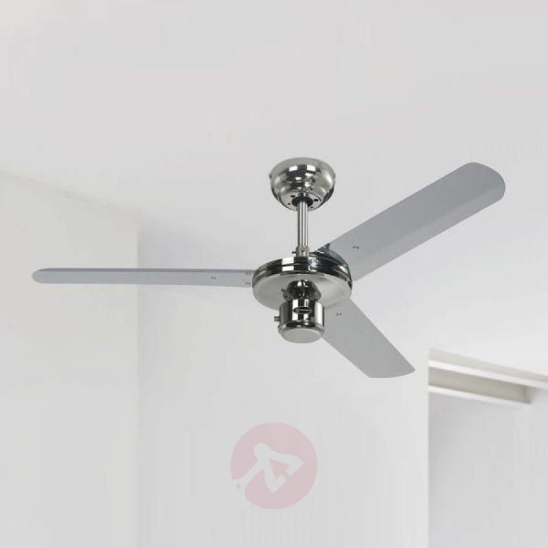 Industrial ceiling fan in elegant chrome - fans
