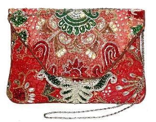 Indian Banjara Embroidery Zari Kundan Clutch bag Lady Purse