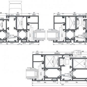 Ponzio PE 52 - Aluminiumfenster