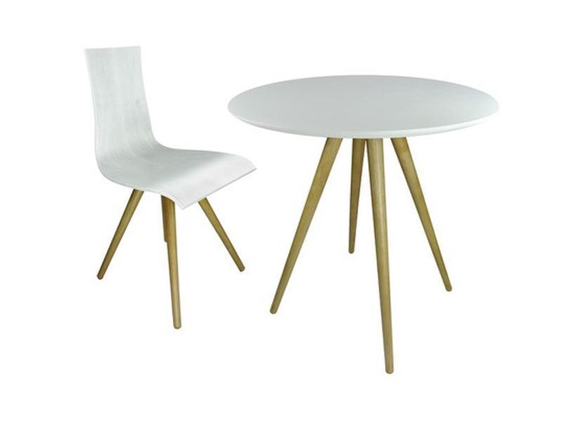 table bistrot bois teint blanc 129 sienne mycreationdesign com france. Black Bedroom Furniture Sets. Home Design Ideas