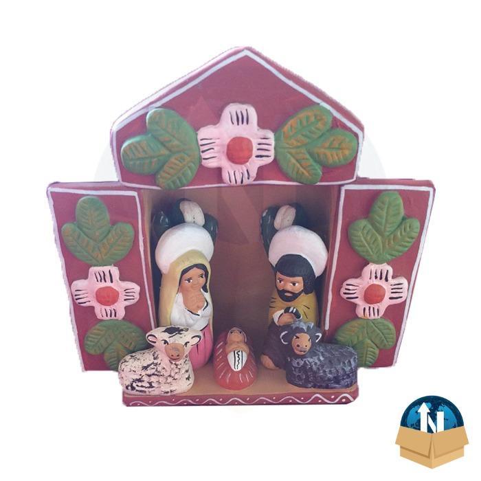 Nativity Altarpiece handmade in ceramic - Christmas Decoration Handmade in Peru