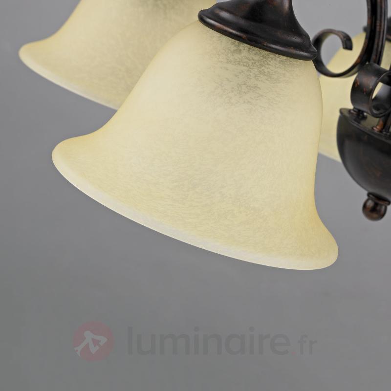 Suspension Svera style champêtre à cinq lampes - Suspensions rustiques