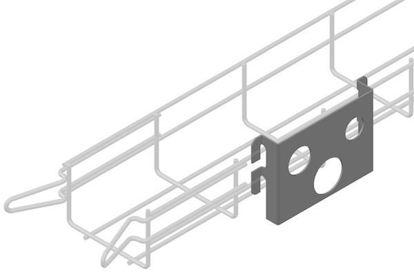Halterungen und Zubehör fur Gitterkabelrinnen - EC-CLICK Halterungen und Zubehör fur Gitterkabelrinnen