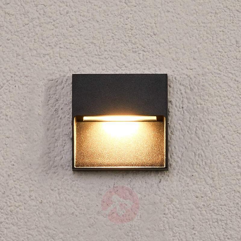 Square LED outdoor wall lamp Marlis - Outdoor Wall Lights