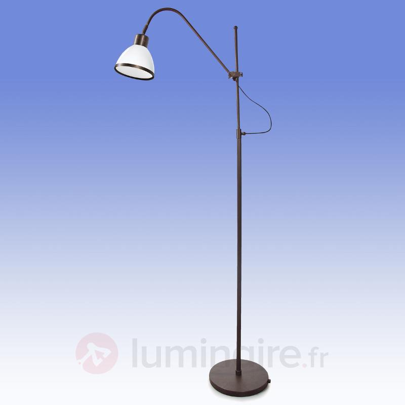 Lampadaire rotatif et inclinable Lorenia - Lampadaires rustiques
