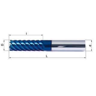 Vollhartmetallfräser VHM 454-03 HX63 - null
