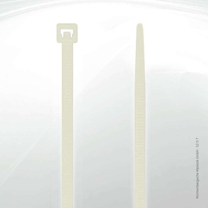 Heat resistant cable ties Allplastik-Kabelbinder® - 5215 T (natural)