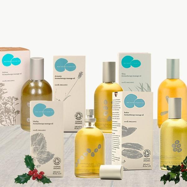 Pack My Wellness - Set de cinco aceites de masaje aromaterápicos 100% orgánicos