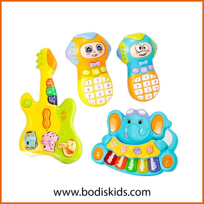 Mobile phone musical guitar electronic guitar toys set  - Baby Toy