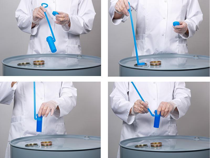 DispoDipper - Frasco cuchara con escala en ml y oz