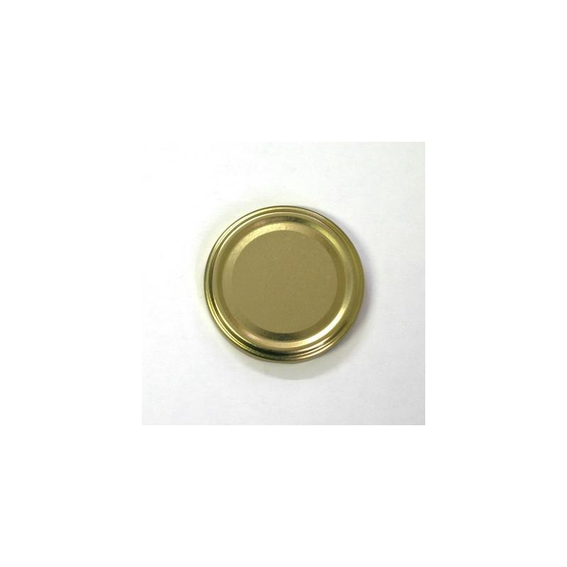 100 caps TO 89 mm Gold color for pasteurization - GOLD