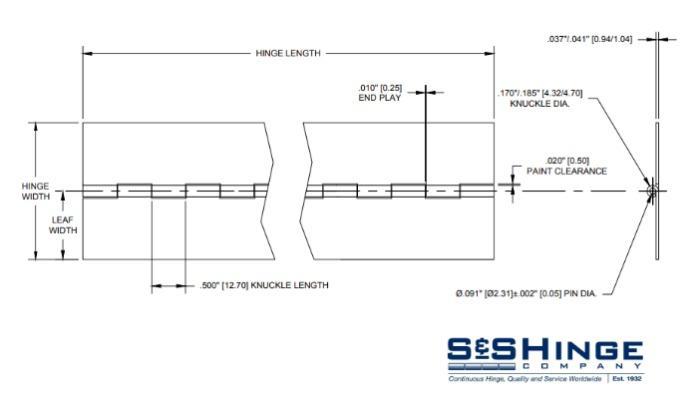 Hinges - 1000 Series - CAD files - 1003x96
