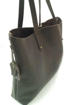Leather Tote Bag - Leather tote bag for woman's