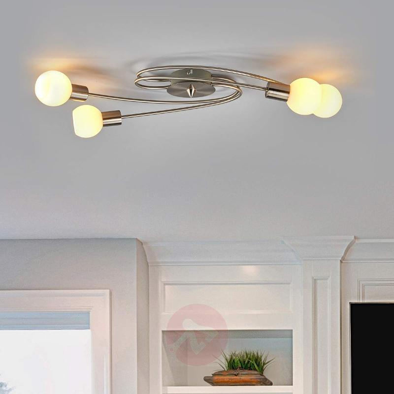 Pretty Seloma LED ceiling light, 4-bulb - Ceiling Lights