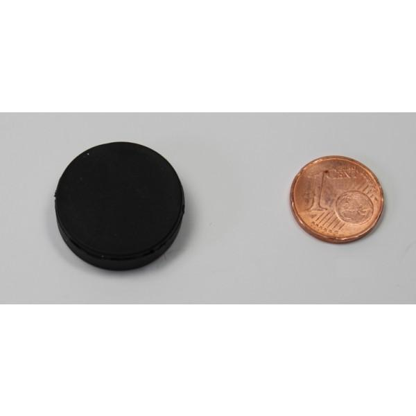 Neodymium disc magnet 22,0x6,4mm, N45, black rubber coated