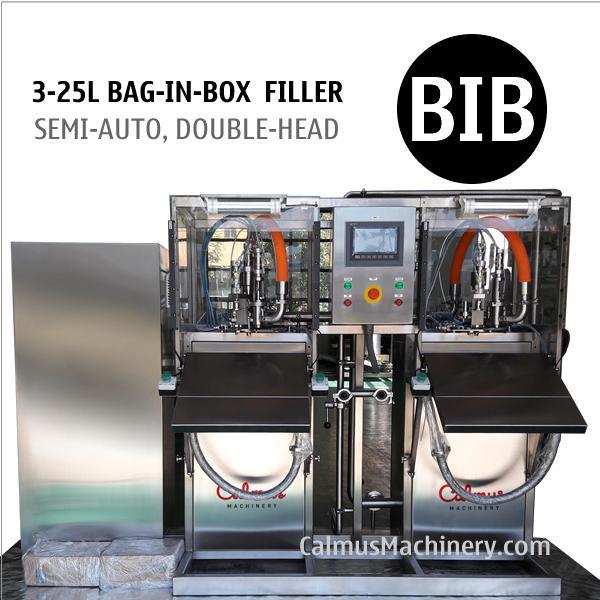 Semi-automatic Double-head Bag in Box Filling Machine