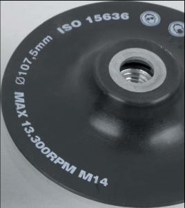 Schleifteller für alle Arbeitsbereiche, nach ISO-Norm - Weich schwarz